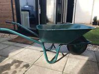 Wheelbarrow 100L Garden Pneumatic Tyre Heavy Duty Coated Steel