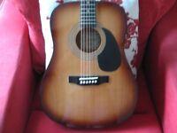 Encore Steel-Stringed Acoustic Guitar Model EN155SB £45.00 ono