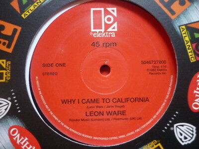 northern soul leon ware why i came to calif/rockin you warners deleted 12 uk
