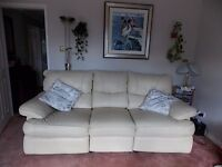 leather 2 and 3 seater settee.