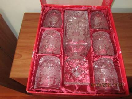 WHISKY SET BOHEMIA CRYSTAL - NEVER USED Cronulla Sutherland Area Preview