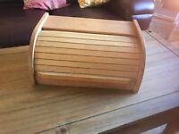 BAMBOO WOODEN BREAD BIN KITCHEN STORAGE