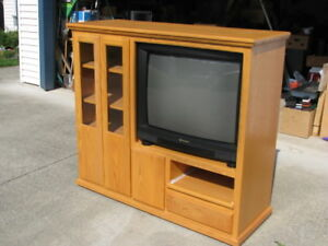 Entertainment Unit (Oak)-TV-Stereo Stand