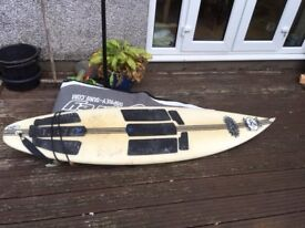 Surf Board & Flight Bag