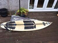 Surf Board & Flight Bag