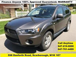 2010 Mitsubishi Outlander 4WD FINANCE 100% APPROVED (140045 KM)