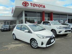 2015 Toyota Yaris NCP130R MY15 Ascent Glacier White 5 Speed Manual Hatchback Belmore Canterbury Area Preview