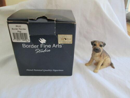 Border Fine Arts Border Terrier Pup Dog Figurine With the Box Vintage 1995 Rare