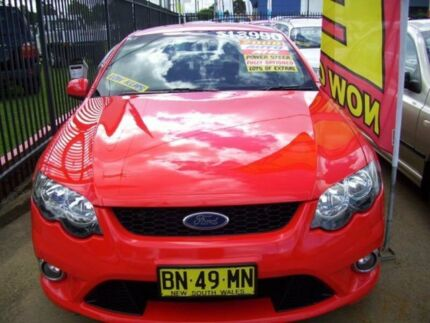 2008 Ford Falcon BF MkII XR6 Red 4 Speed Automatic Sedan Woodbine Campbelltown Area Preview