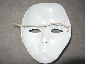 1 PAIR of WHITE SOLID HARD THEATRE BALLROOM GALA FACE Halloween North Shore Greater Vancouver Area image 10