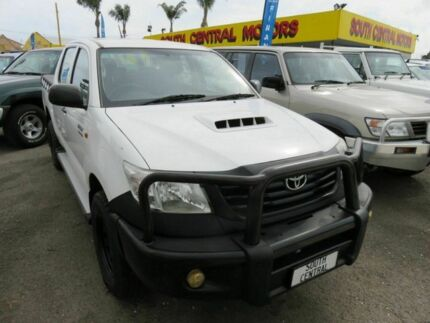 2011 Toyota Hilux KUN26R MY12 Workmate White 4 Speed Automatic Dual Cab Reynella Morphett Vale Area Preview