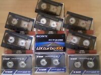 CASSETTE TAPES 6x TDK AR C100, 3x BASF CEII / CHROME EXTRA II C100 + A *NEW* SONY TURBO CHROME C100.