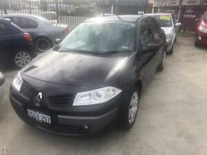 2008 Renault Megane II L84 Phase II Expression Black 4 Speed Automatic Sedan St James Victoria Park Area Preview