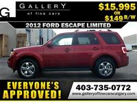 2012 Ford Escape LIMITED 4x4 $149 Bi-Weekly APPLY NOW DRIVE NOW