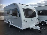 NEVER EVER Used. Bailey Pursuit 400 Sun Roof Model 2/3 Berth with End Bathroom. Modern/Beautiful.