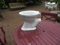 heritage toilet pan as new condition genuine reason for sale with seat and lid
