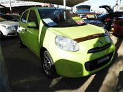 2011 Nissan Micra K13 ST Green 4 Speed Automatic Hatchback Minchinbury Blacktown Area Preview