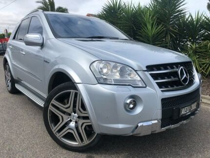 2009 Mercedes-Benz ML63 AMG W164 09 Upgrade 4x4 Silver 7 Speed Automatic G-Tronic Wagon Hoppers Crossing Wyndham Area Preview