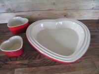 Valentines Red Le Creuset Heart Shaped Stoneware