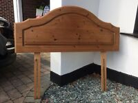 Pine headboard for 4ft bed