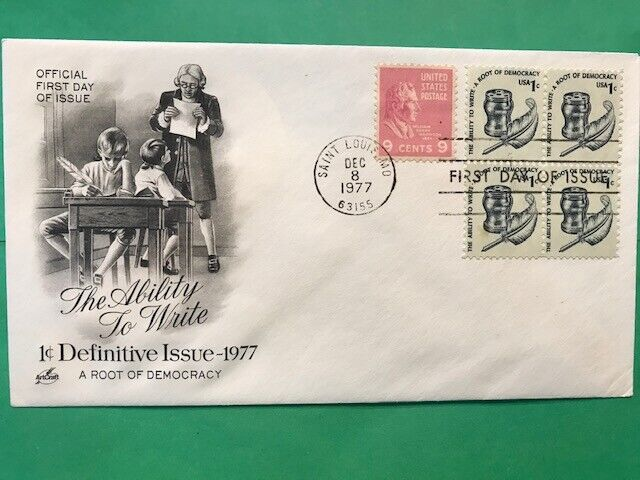 1581 Artmaster FDC 1977 Definitive Issue 1c The Ability To Write L947 - $1.11