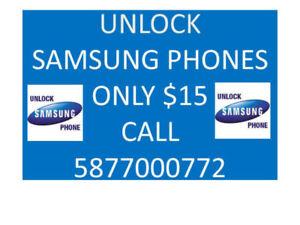 Factory Unlock service samsung phones s3,s4 s5,s6,s7 ,s7edg note