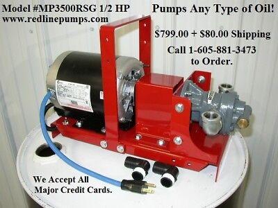 New Mp3500rsg Waste Oilbulk Oil Transfer Filtration Pump100 Psibiodieselwvo