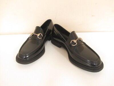 Auth GUCCI Horsebit Black Rubber Shoes #6
