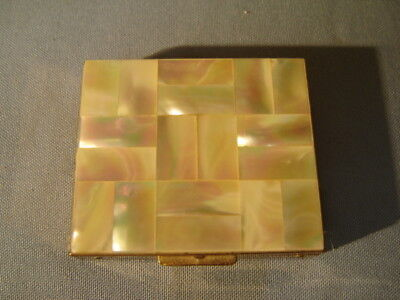 Vintage Tradition Mother Of Pearl Compact