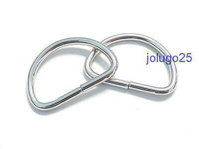 100 3/4 inch D Rings Metal Dee Rings Webbing  Strapping #37108