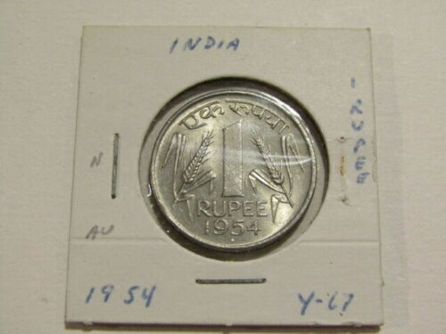 India 1954 1 Rupee Au Coin