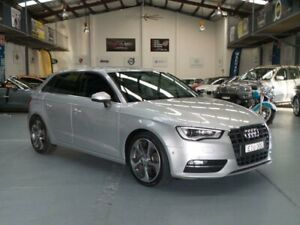 2013 Audi A3 8V Sportback 1.8 TFSI Ambition Silver 7 Speed Auto Direct Shift Hatchback Seven Hills Blacktown Area Preview