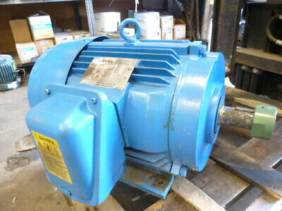 Used Works Toshiba Electric Motor 15 Hp 3 Phase 3510 Rpm 254t Fr 575 Volts Only