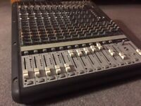 Mackie 1620 mixer. Great analogue sound, potentially an even better soundcard (no FW interface)
