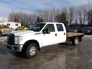 2013 Ford F350 Crew Cab 4x4 with 9 ft deck 89,000 km