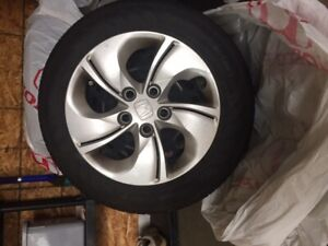 summer tires on rims