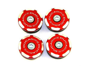 DUCABIKE 1199 Panigale Frame Plugs - Red - New