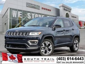 2018 Jeep Compass Limited LANE ASSIST, LEATHER, NAV $225B/W