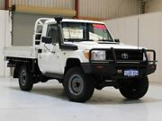 2012 Toyota Landcruiser VDJ79R MY10 Workmate White 5 Speed Manual Cab Chassis Bibra Lake Cockburn Area Preview