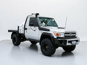 2007 Toyota Landcruiser VDJ79R GXL (4x4) Silver 5 Speed Manual Cab Chassis