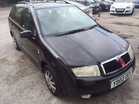 2002 SKODA FABIA ESTATE 1.9 TDI. LOVELY CAR. LONG MOT. NO FAULTS