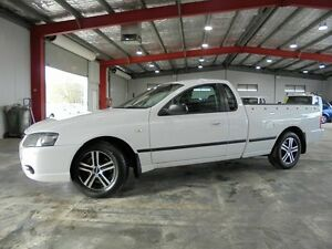 2008 Ford Falcon BF MK2 XL White 4 Speed Auto Active Select Utility Welshpool Canning Area Preview