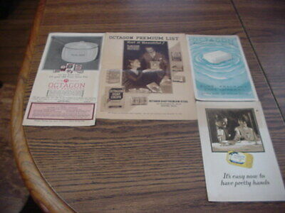 4 LOT 1929 OCTAGON SOAP ADVERTISEMENTS MUST SEE