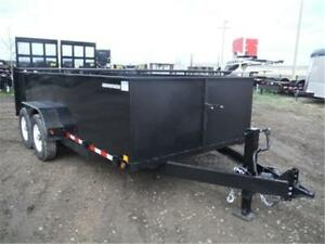 *GUARANTEED LOWEST PRICE*  7X16 SOLID SIDE TRAILER – 14K GVWR