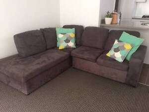 L shaped charcoal 4 seater lounge for sale Warriewood Pittwater Area Preview