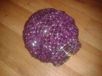 Unused purple round beaded ceiling shade