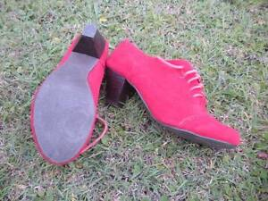 Newest Ladies Red Suede Shoes Size 39 - $8 Albion Brisbane North East Preview