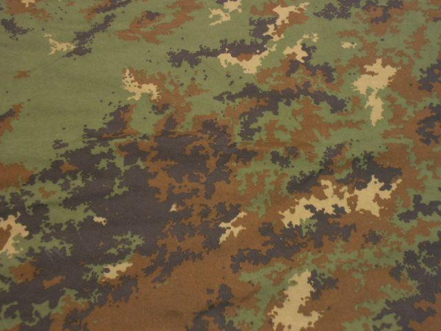 Tessuto mimetico militare Esercito Italiano vegetato vendita al metro H.175 cm.