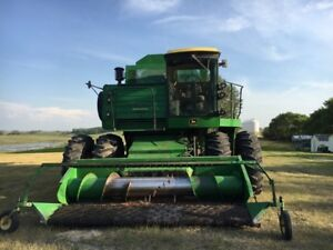 7720 John Deere Combine with Pickup and Straight Cut Header