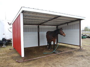 (new) Deluxe 16 ft. HORSE shelter shed